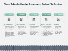 Factual Picture Filming Plan Of Action For Shooting Documentary Feature Film Services Elements PDF