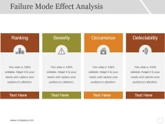 Failure Mode Effect Analysis Ppt PowerPoint Presentation File Templates