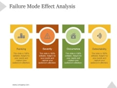 Failure Mode Effect Analysis Ppt PowerPoint Presentation Template