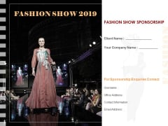 Fashion Show Sponsorship Proposal Ppt PowerPoint Presentation Complete Deck With Slides