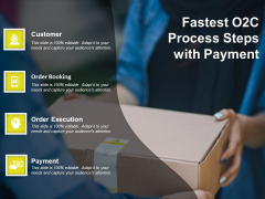 Fastest O2C Process Steps With Payment Ppt PowerPoint Presentation Icon Outline PDF