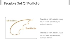 Feasible Set Of Portfolio Ppt PowerPoint Presentation Designs