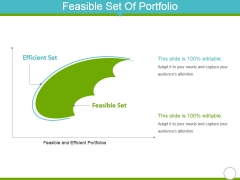 Feasible Set Of Portfolio Ppt Powerpoint Presentation Summary Objects