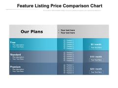 Feature Listing Price Comparison Chart Ppt PowerPoint Presentation Outline Icons