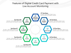 Features Of Digital Credit Card Payment With Live Account Monitoring Ppt PowerPoint Presentation Model PDF