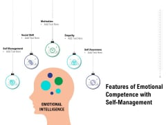 Features Of Emotional Competence With Self Management Ppt Infographic Template Objects PDF