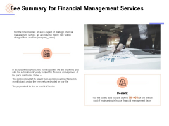 Fee Summary For Financial Management Services Ppt PowerPoint Presentation Summary Example Topics