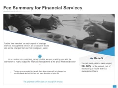 Fee Summary For Financial Services Checklist Ppt PowerPoint Presentation Layouts Introduction