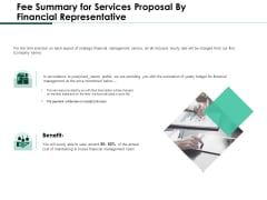 Fee Summary For Services Proposal By Financial Representative Demonstration PDF
