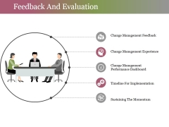 Feedback And Evaluation Ppt PowerPoint Presentation Ideas Graphics Example
