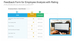 Feedback Form For Employee Analysis With Rating Ppt PowerPoint Presentation Pictures Show PDF