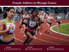 Female Athletes In Olympic Games Ppt PowerPoint Presentation Outline Professional PDF