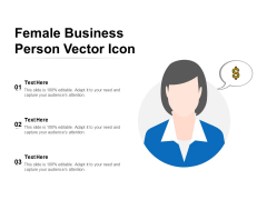 Female Business Person Vector Icon Ppt PowerPoint Presentation Inspiration Infographic Template PDF