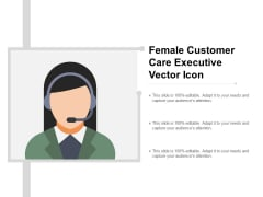 Female Customer Care Executive Vector Icon Ppt PowerPoint Presentation Model Graphics Pictures