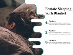 Female Sleeping With Blanket Ppt PowerPoint Presentation File Microsoft PDF