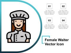 Female Waiter Vector Icon Ppt PowerPoint Presentation Ideas Brochure