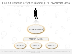 Field Of Marketing Structure Diagram Ppt Powerpoint Ideas