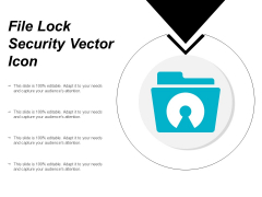 File Lock Security Vector Icon Ppt PowerPoint Presentation Infographics Model