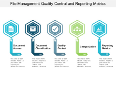 File Management Quality Control And Reporting Metrics Ppt PowerPoint Presentation Portfolio Icon
