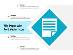 File Paper With Fold Vector Icon Ppt PowerPoint Presentation Infographic Template File Formats PDF
