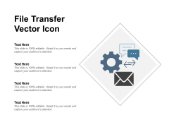 File Transfer Vector Icon Ppt PowerPoint Presentation Show Gallery