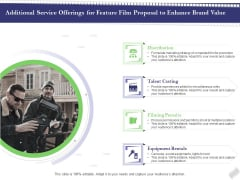 Film Branding Enrichment Additional Service Offerings For Feature Film Proposal To Enhance Brand Value Clipart PDF