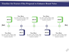 Film Branding Enrichment Timeline For Feature Film Proposal To Enhance Brand Value Structure PDF