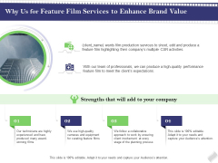 Film Branding Enrichment Why Us For Feature Film Services To Enhance Brand Value Diagrams PDF