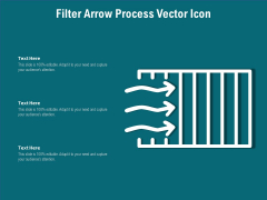 Filter Arrow Process Vector Icon Ppt PowerPoint Presentation File Visual Aids PDF