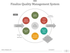Finalize Quality Management System Ppt PowerPoint Presentation Guide