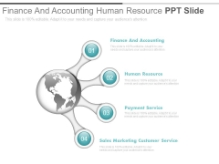 Finance And Accounting Human Resource Ppt Slide