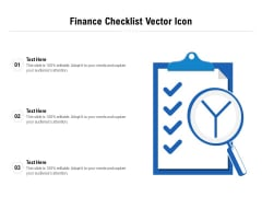 Finance Checklist Vector Icon Ppt PowerPoint Presentation Summary Examples PDF