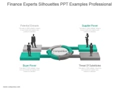 Finance Experts Silhouettes Ppt Examples Professional