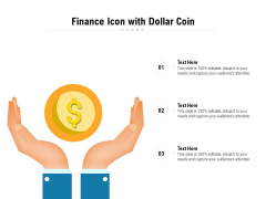 Finance Icon With Dollar Coin Ppt PowerPoint Presentation Icon Styles PDF