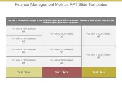 Finance Management Metrics Ppt Slide Templates