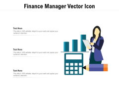 Finance Manager Vector Icon Ppt PowerPoint Presentation Professional Structure PDF