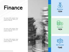 Finance Revenue Deposits Ppt PowerPoint Presentation Portfolio Graphic Images