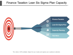Finance Taxation Lean Six Sigma Plan Capacity Planning Ppt PowerPoint Presentation File Portrait