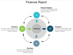Finances Report Ppt PowerPoint Presentation Slides Brochure Cpb