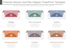 Financial Advisors And Plan Diagram Powerpoint Templates