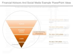 Financial Advisors And Social Media Example Powerpoint Ideas