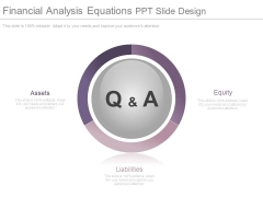 Financial Analysis Equations Ppt Slide Design