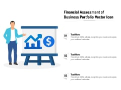Financial Assessment Of Business Portfolio Vector Icon Ppt PowerPoint Presentation Model Inspiration PDF