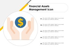 Financial Assets Management Icon Ppt PowerPoint Presentation Infographic Template Topics