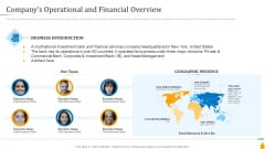 Financial Banking PPT Companys Operational And Financial Overview Introduction PDF