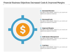 Financial Business Objectives Decreased Costs And Improved Margins Ppt PowerPoint Presentation Summary Professional