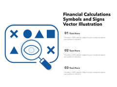 Financial Calculations Sumbols And Signs Vector Ilustration Ppt PowerPoint Presentation File Inspiration PDF