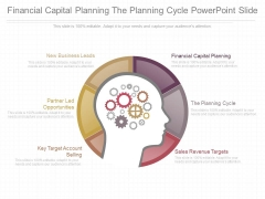 Financial Capital Planning The Planning Cycle Powerpoint Slide