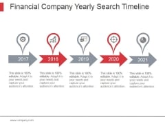 Financial Company Yearly Search Timeline Ppt PowerPoint Presentation Topics