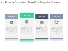 Financial Comparison Ppt PowerPoint Presentation Summary